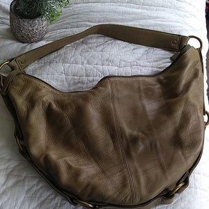 Hobo Leather Bag. Olive.